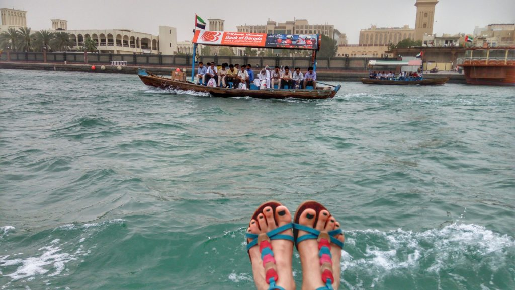Crossing Dubai Creek on an Abra